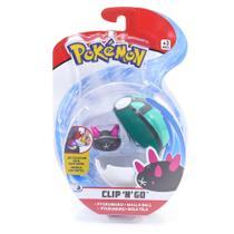 Mini Figura Pokémon e Pokebola Com Clip - Pyukumuku e Malla Ball - DTC -