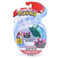 Mini Figura Pokémon e Pokebola Com Clip - Ryukumuku e Bola Terra - DTC -
