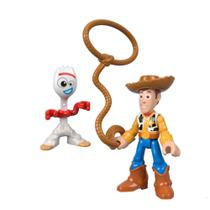 Mini Figuras Básicas - 10 Cm - Disney - Pixar - Toy Story 4 - Woody e Forky - Mattel -