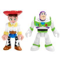 Mini Figuras Básicas - Imaginext - Disney - Pixar - Toy Story 4 - Buzz Lightyear e Jessie - Fisher-Price - Fisher Price