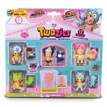 Mini Figuras Twozies - Kit Parceiros com 12 Figuras - Série 3 - DTC -