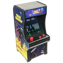 Mini Fliperama Tiny Arcade Space Invaders World - Dtc