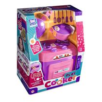 Mini Fogão Play Cooker Brinquedo Rosa Menina - Zuca Toys -