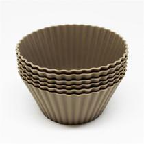Mini forma para cupcake de silicone com 6 peças fendi - homecook -