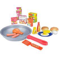 Mini frigideira infantil com acessorios - Toyng