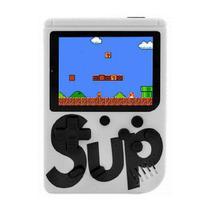Mini Game Box Console Portátil C/ 400 Jogos Retrô Branco - Oem