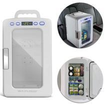 Mini Geladeira Portátil Branca 10L 12V 110V 220V Refrigera Aquece + Cabo tomada Multilaser TV015 -