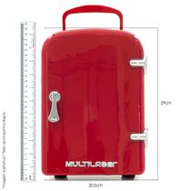 Mini geladeira retrô trivolt 12v/110v/ 220v Multilaser -