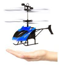 Mini Helicóptero Voa Brinquedo Sensor Drone Sem Crontole AZUL - Xll
