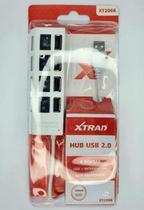 Mini HUB USB 4 Portas 2.0 XT 2066 Xtrad Para Computador Notebook Com Botão Liga Desliga -