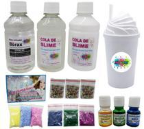 Mini Kit Para Fazer Slimes Completo Com Copo Branco - Ine slime