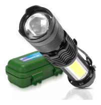 Mini Lanterna Luminária Zoom Recarregável Usb Estojo Luatek Militar LT-407 -