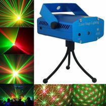 Mini Laser Led Projetor Raio Holografico Dj Festa Balada - Top Total