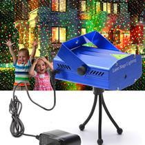 Mini Laser Projetor Holográfico Luzes Decoração De Balada Natal Festas Iluminação 09 Bivolt - Lx