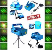 Mini Laser Projetor Holográfico Luzes Efeitos 3D Strobo Festas Balada Natal Canhão de Luz Iluminação Original Bivolt - Leffa Shop
