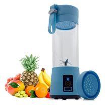 Mini Liquidificador 6 Laminas Portátil Para Vitamina Shake Academia Esportes - AZUL - Qh-05