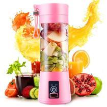 Mini Liquidificador 6 Laminas Portátil Para Vitamina Shake Academia Esportes - ROSA - Qh-05