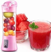 Mini Liquidificador Mixer Juice Usb Garrafa Portatil Coquete ROSA - Bcs