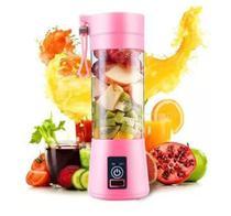 Mini Liquidificador Portátil Garrafa Coqueteleira Squeeze Elétrica 380ml Mixer Shaker Usb (Rosa) - Juice Cup