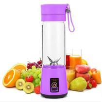 Mini Liquidificador Portátil Para Vitamina Shake Academia Esportes Fitness 6 lâminas - ROXO - Qh-05