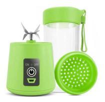 Mini Liquidificador Portátil Para Vitamina Shake Academia Esportes Fitness 6 Laminas- VERDE - Qh-05
