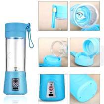 Mini Liquidificador Portátil Shake Eletrico Juice Cup AZUL - Booglee
