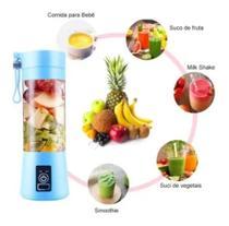 Mini Liquidificador Portátil Shake Take Juice Cup Recarregav azul -