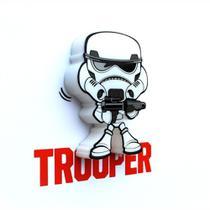Mini Luminária 3d Light Fx Star Wars Storm Trooper - Beek
