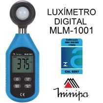Mini - luxímetro digital com sensor fotodiodo de silício - minipa mlm-1001 -