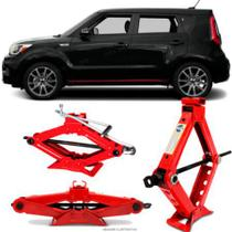 Mini Macaco Hidráulico Sanfona Automotivo Kia Motors Grand Soul 1,5 Toneladas Com Alavanca - Tech One