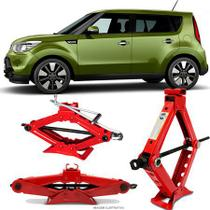 Mini Macaco Hidráulico Sanfona Automotivo Kia Motors Soul 1 Tonelada Com Alavanca - Tech One