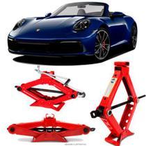 Mini Macaco Hidráulico Sanfona Automotivo Porsche 911 1,5 Toneladas Com Alavanca - Tech One