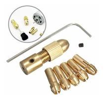 Mini Mandril Acoplável. Mandril Para Motor Kit 7 Peças - S.G Style