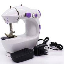 Mini Máquina de Costura Portátil Elétrica Bivolt Pilha Luz Led Compacta Doméstica IWMC-507 - Importway