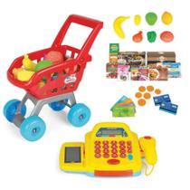 Mini Market Carrinho de Compras e Caixa Registradora - Homeplay -