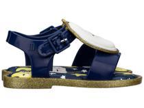 Mini Melissa Mar Sandal Sweet Dreams Azul Ouro Glitter -