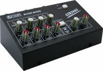 Mini mesa de som 8 canais volume a bateria mm 2402 csr -
