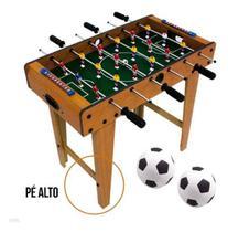 Mini Mesa Pebolim Infantil Totó Pé Alto 60 cm 18 Jogadores - Atitude Mix