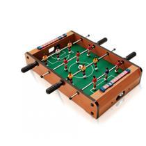 Mini Mesa Pebolim Totó Futebol 12 Jogadores Compacto Mdf - Brilho de diamante