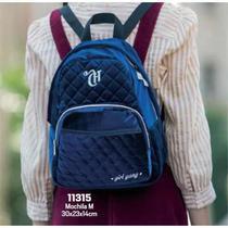 Mini mochila dmw  capricho veludo azul- 11315 - Dmw Capricho