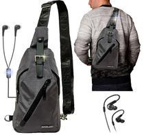 Mini Mochila masculina Esportiva Resistente Transversal Entrada Fone de Ouvido + Fone De Ouvido - Swissland
