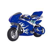Mini Moto Azul Gasolina Esportiva Infantil 2t 49cc Speed Ninja Gp - Importway Kids