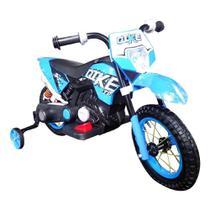 Mini Moto Cross Eletrica Infantil Azul BW083 Importway -