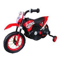 Mini Moto Cross Eletrica Infantil Vermelha BW083 Importway -