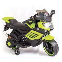 Mini Moto Cross Verde Elétrica Infantil Brinquedo Unitoys -