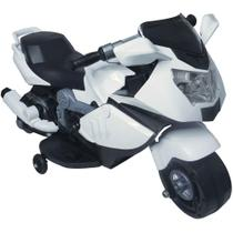 Mini moto eletrica 6v branco - importway -
