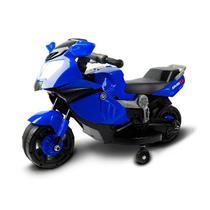 Mini Moto Eletrica Infantil 6V Azul BW044AZ Importway -