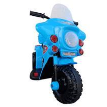 Mini Moto Elétrica Infantil 6V Bateria Luzez c/ som Azul - Cama Elástica Rs