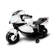 Mini Moto Eletrica Infantil 6V Branca BW044BR Importway -