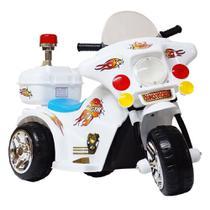 Mini Moto Elétrica Infantil Branca Recarregável BW006-BR Importway -